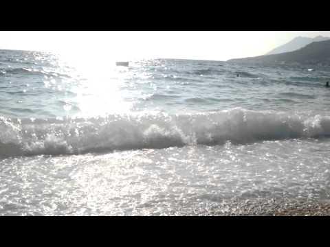 Gradac beach Croatia - sea waves