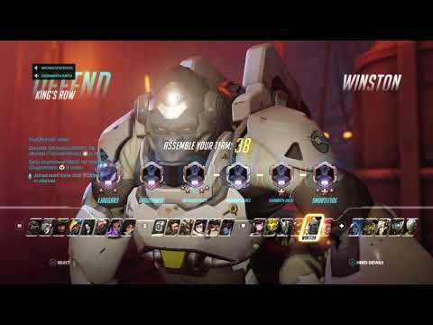 Overwatch: Winston/REINHARD Gameplay