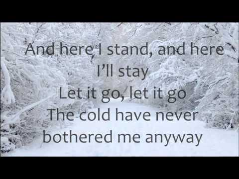 Demi Lovato - Let it Go LYRICS (Frozen)