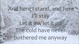 Demi Lovato Let It Go LYRICS (Frozen)