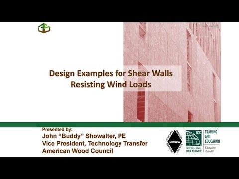 Shear Wall Design Examples Webinar Des413 Youtube