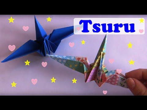 TSURU - GROU - VÍDEO AULA DE ORIGAMI