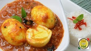 Simple Egg Curry with Pressure Cooked Onion Tomato Gravy ..