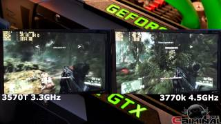GTX Titan SLI - Crysis 3 and CPU scaling 3770K 4.5Ghz vs 3570T 3.3GHz