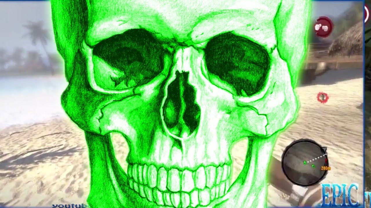 Dead Island Green Skull Drop Off