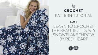 Learn To Crochet The Beautiful Dusty Snowflake Throw By