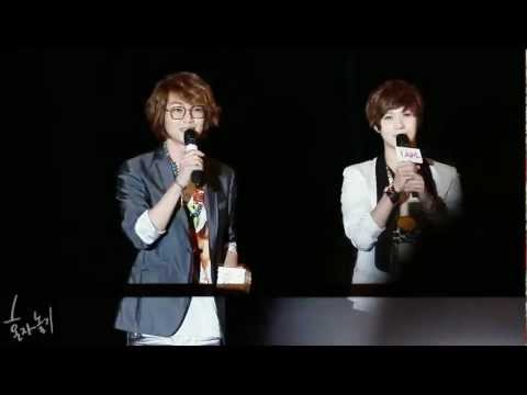 l2O62l cute Onew & Taemin talk fancam @ IAM Stage Greeting