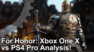 FOR HONOR - Xbox One X vs PS4 Pro vs PC Graphics Comparison