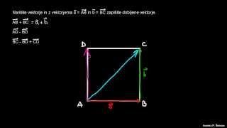 Seštevanje in odštevanje vektorjev 1