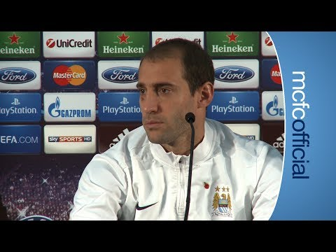 ZABALETA PREVIEW City v CSKA Moscow Pablo Zabaleta press conference