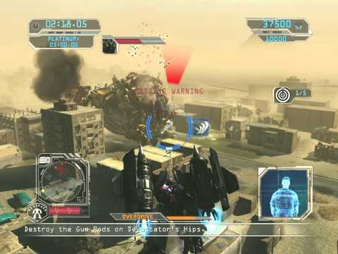Transformers Revenge of the Fallen GAME-Optimus Prime vs Devastator (PLATINUM MEDAL)