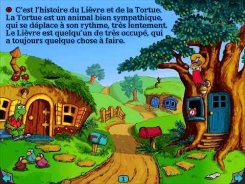 Living Books : Le Lièvre et la Tortue (Parte 1)
