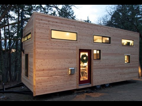 """Couple Builds Own Tiny House on Wheels in 4 Months for $22,744.06- """"hOMe"""" FULL TOUR"""