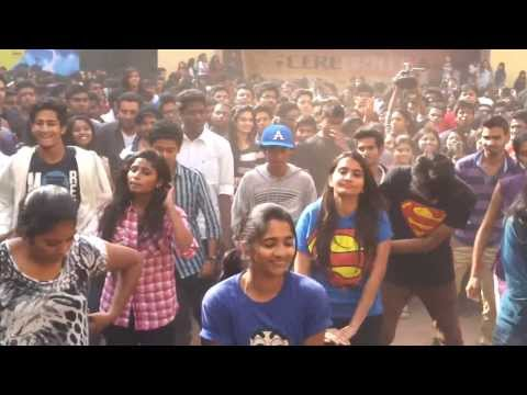 Flash Mob By Students of BVC, Sainikpuri, Hyderabad @ St. Francis College