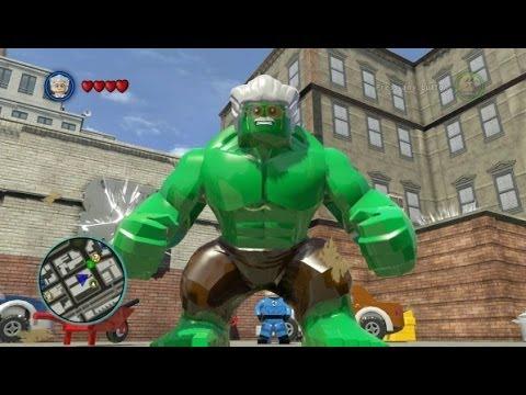 LEGO Marvel Super Heroes (PS4) - Stan Lee / Excelsior Hulk Free Roam Gameplay