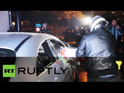 Anti-World Cup protesters smash luxury cars in Sao Paulo dealership
