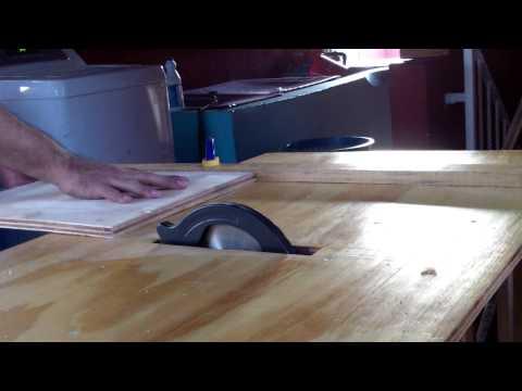 Sierra de mesa casera con sierra circular truper