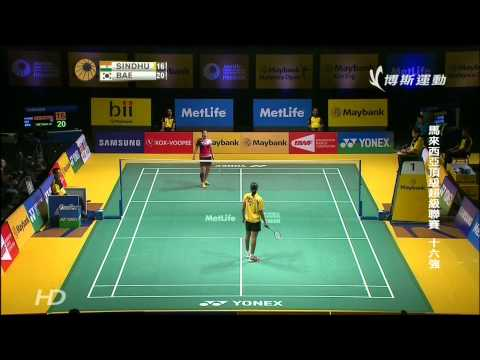 2014 Malaysia Open R16 WS 裴延姝(KOR)VS Sindhu P  V