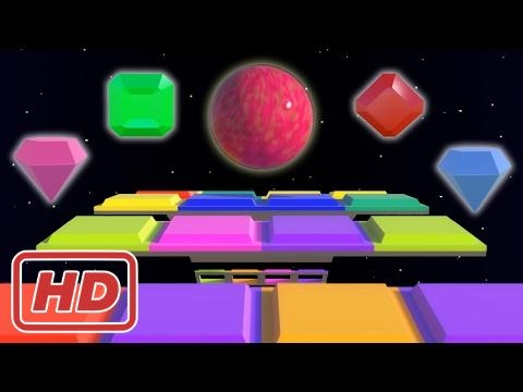 Binkie TV - Funny Ball Space Aventure - Collecting Color Diamonds 3D For Kids