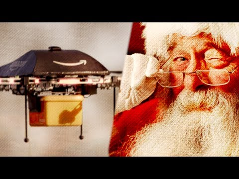 Amazon Prime Air Drones VS Santa Claus