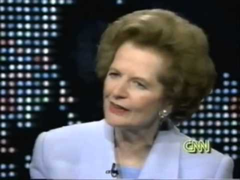 Margaret Thatcher on Larry King