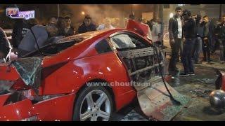 كسيدة خطيرة جدا في قلب كازا...شوفو الضحايا والسيارة كيفاش ولاو.. |