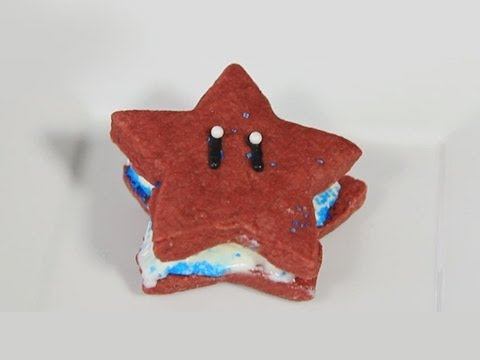 Super Mario Star Ice Cream Sandwich - Quake and Bake