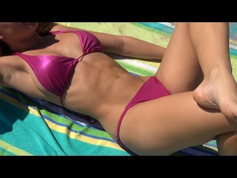 Courtney Rose Bikini Abs Workout