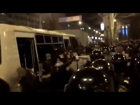 Bloody and Violent Rally In Donetsk, Eastern Ukraine (Part 1 of 2). March 13, 2014