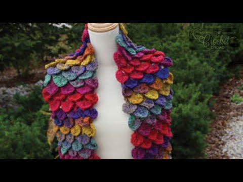 Different Crochet Stitches Youtube : Crocodile Stitch - How To Crochet - YouTube
