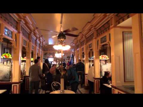 Disneyland Paris Main Street Stores - Restaurants Walkthrough HD