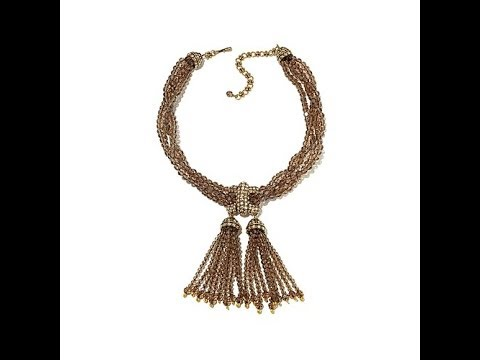 Heidi's Pave Pedigree Beaded Torsade Necklace