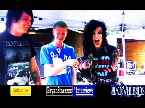 Black Veil Brides Interview #4 Andy Biersack &amp; Matt Good Warped Tour 2011