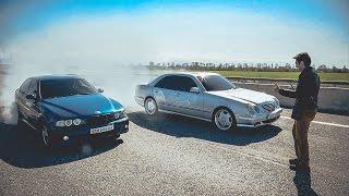 Битва двух ЛЕГЕНД! BMW E39 M5 =VS= W210 AMG 5.5 + Розыгрыш iPhone 7 Жорик Ревазов.
