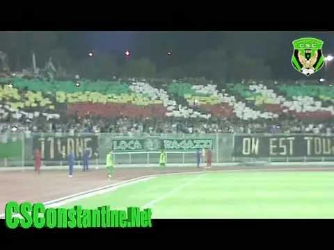 CS Constantine vs OGC Nice : Tifos des Ultras, ambiance au stade, et le but du CSC