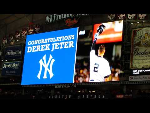 Derek Jeter pregame honoring Astros April 2nd