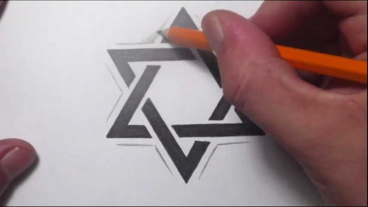 How to draw a star of david tattoo design youtube for Star of david tattoo designs