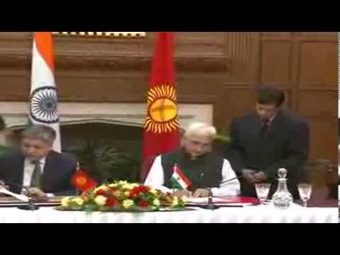 Visit of the Foreign Minister of the Kyrgyz Republic to India-Signing Agreements