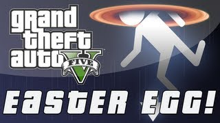 """Grand Theft Auto 5 Portal """"THE CAKE IS A LIE"""" Easter Egg"""