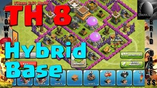 Clash Of Clans: Town Hall 8 Hybrid Base 3 Storages