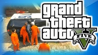 GTA 5 Online Funny Moments 18 Going To Jail, Wizard