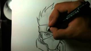 Tutorial Como Desenhar O Kakashi How To Draw Kakashi