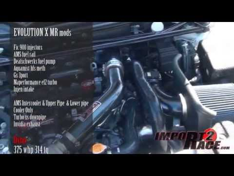 375whp Evolution X MR does Low 12sec