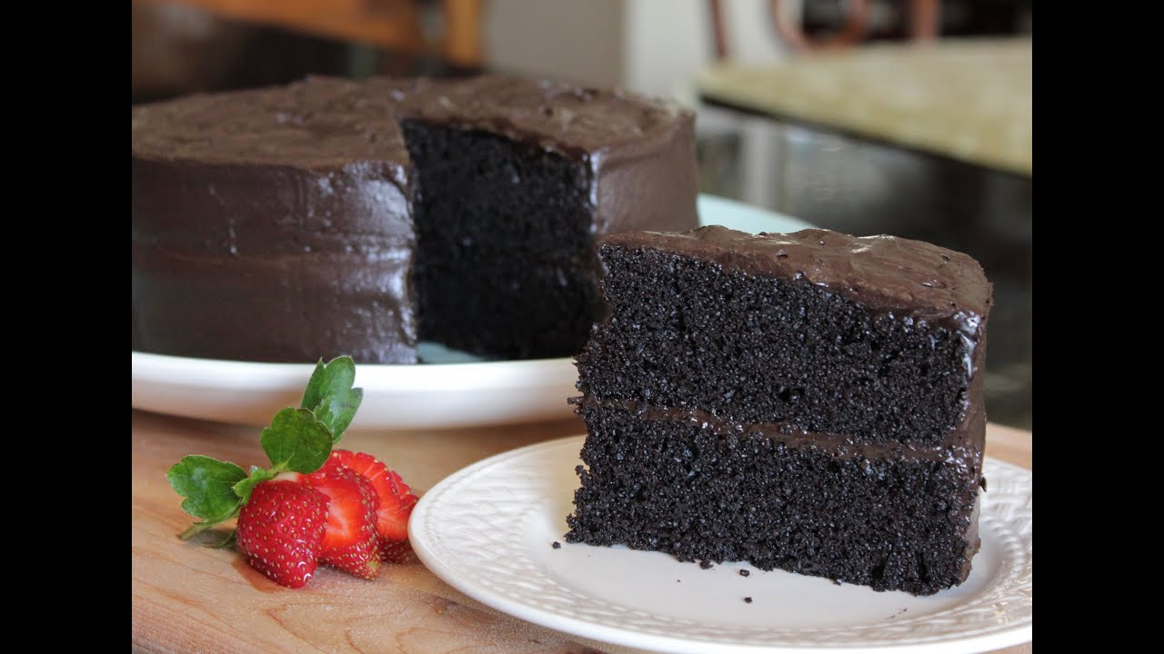 Homemade Delicious Especially Dark Chocolate Cake The