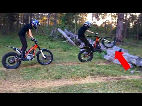FIRST TIME RIDING TRIALS BIKES!