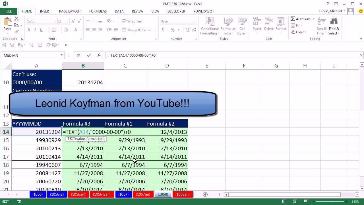 Excel Convert Yyyymmdd To Date Format