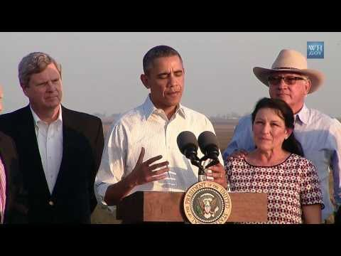 Obama:Climate Change Means More Disasters Like CA Drought