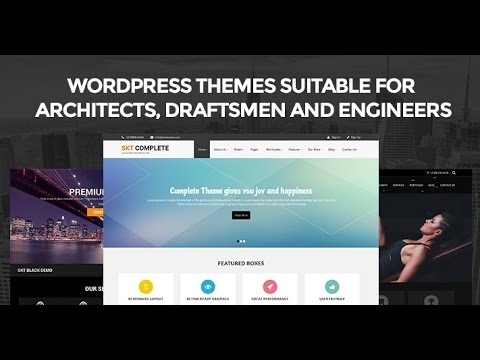 WordPress Themes Suitable for Architects, Draftsmen and Engineers