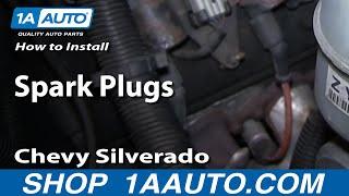 How To Install Replace Spark Plugs Chevy Silverado GMC