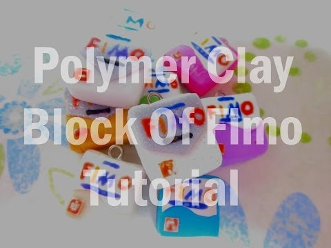 Polymer Clay block of fimo tutorial
